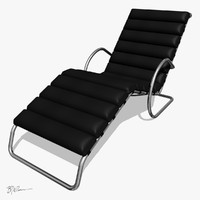 MR chaise lounge chair with arms